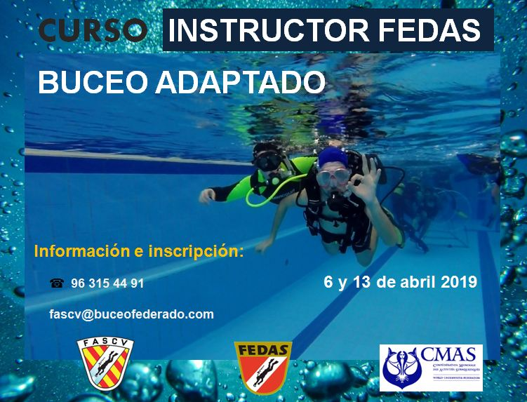 Convocatoria cursos de la Especialidad de Buceo Adaptado - Instructor y Buceador